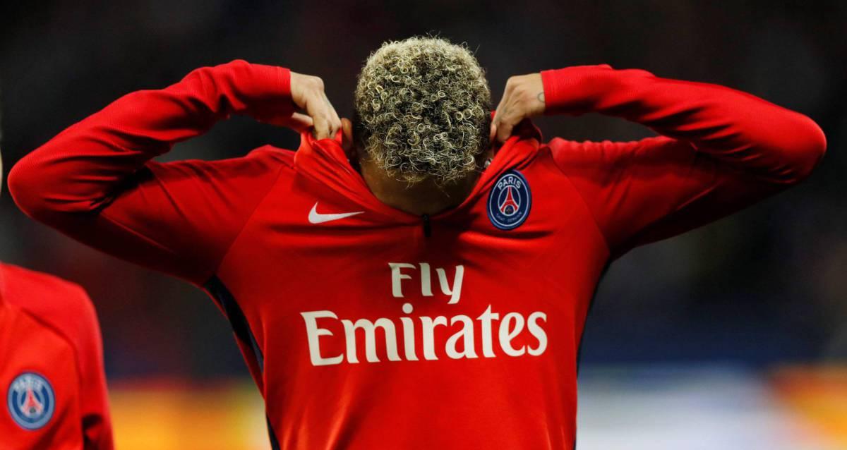 Neymar, durante o jogo entre o PSG e o Olympique de Lyon.