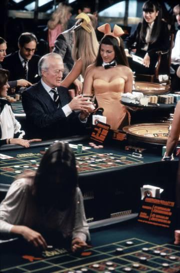 O cassino do Club Playboy de Londres, em 1980