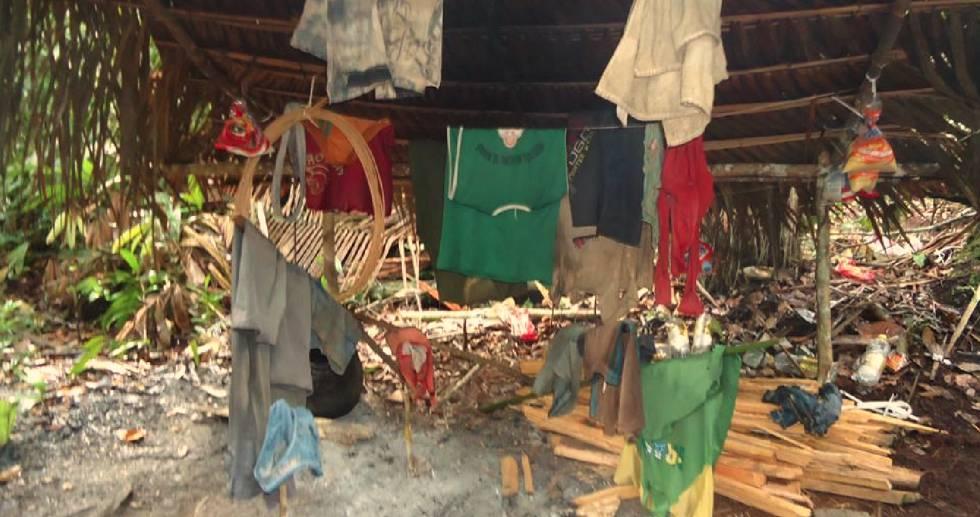 Alojamento de trabalhadores libertados no Amazonas.