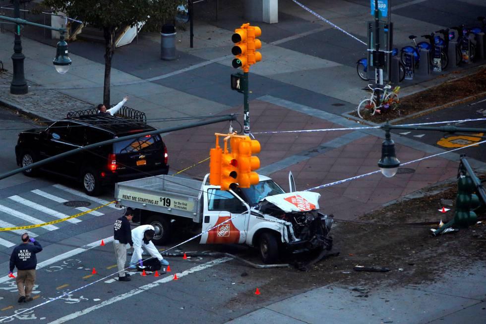 Atentado com caminhonete em Nova York deixa vários mortos e feridos em ciclovia