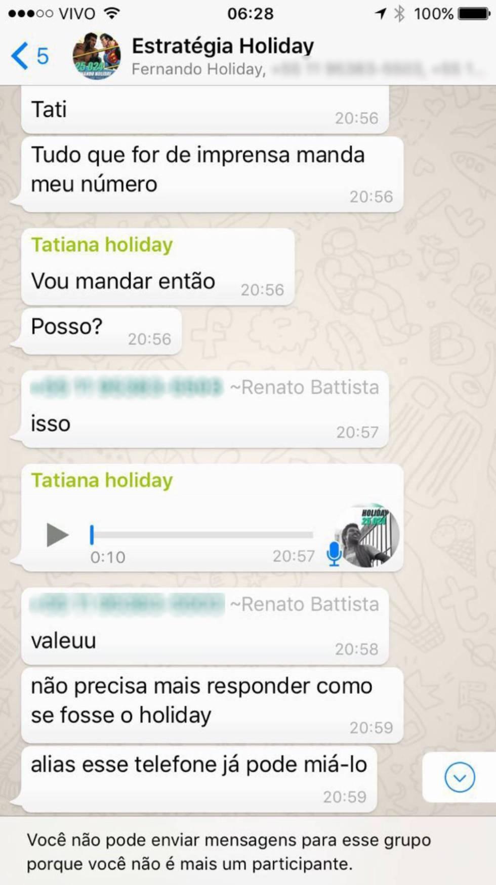 """Diálogos entre Tatiane Carvalho e correligionários da campanha do democrata; """"eleitora"""" responsável por pagamento de cabos eleitorais tinha mais atributos na campanha do que parlamentar fez parecer."""
