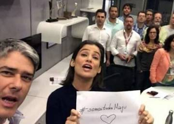 William Bonner e Renata Vasconcelos se solidarizaram com Maju em 2015.