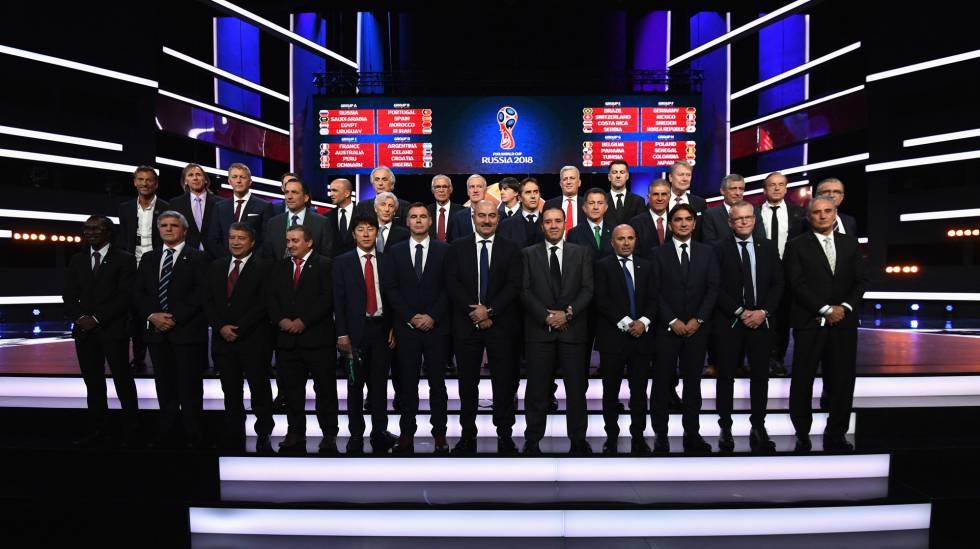 Tabela de grupos sorteio da Copa do Mundo 2018