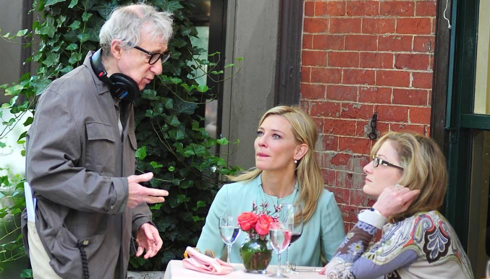 Woody Allen e Cate Blanchett durante a filmagem de 'Blue Jasmine'.