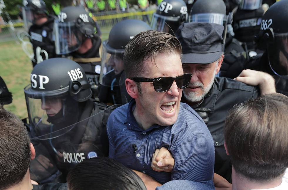 Supremacista branco, Richard Spencer no protesto neonazista de Charlottesville