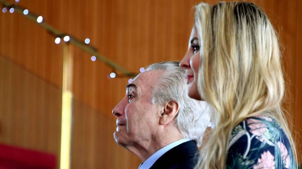 Michel e Marcela Temer no Palácio da Alvorada no dia 22.