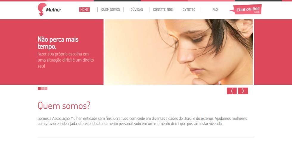 Print da capa do site Gravidez Indesejada.