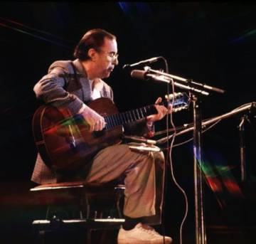 O cantor João Gilberto, em uma foto de arquivo.