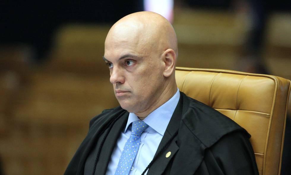 Ministro Alexandre de Moraes durante sessão de encerramento do ano judiciário do STF, em dezembro de 2017