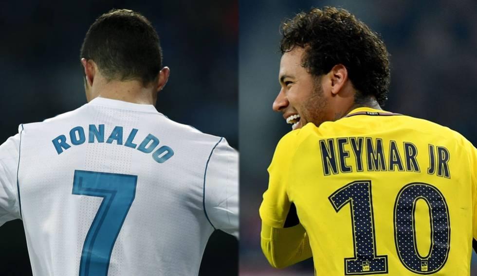 Cristiano Ronaldo Neymar Real Madrid PSG