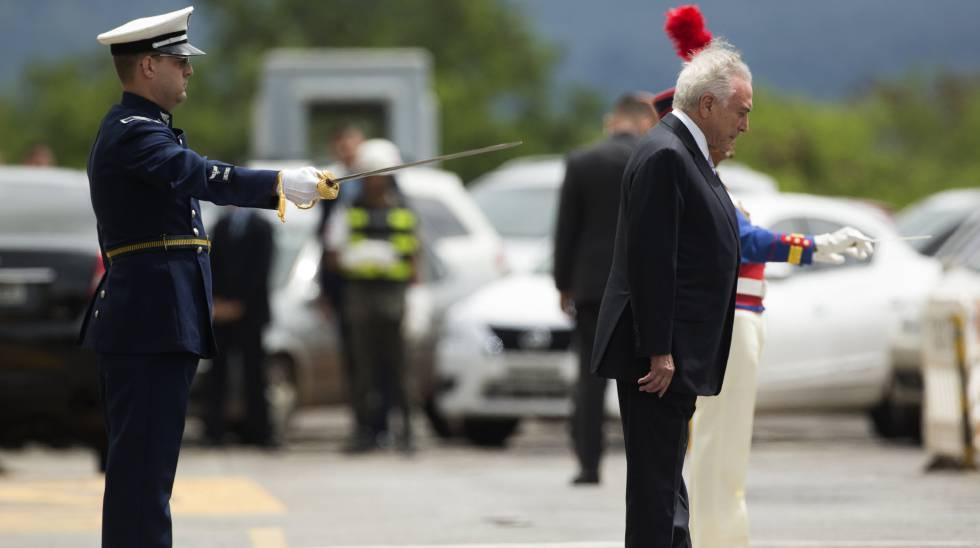 Temer durante reunião do Conselho Militar de Defesa, no dia 22.