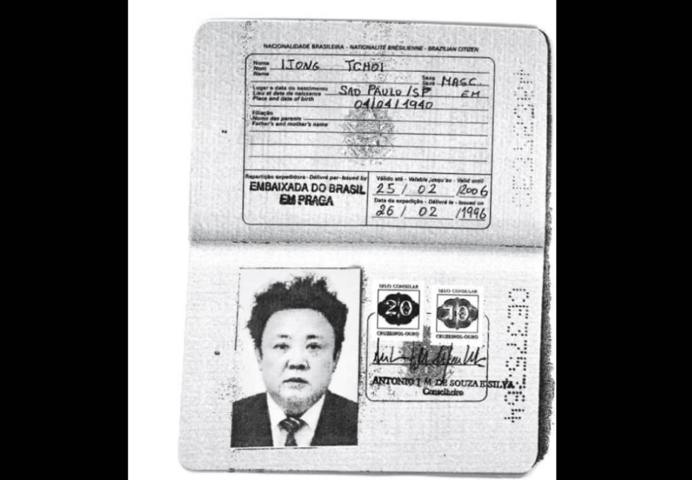 El pasaporte de Jong Il fue emitido a nombre de Ijong Tchoi.