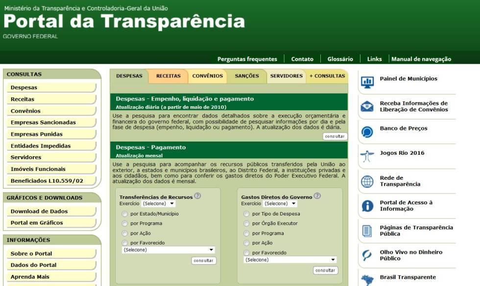 Portal de Transparência do Governo não atualiza dados desde novembro