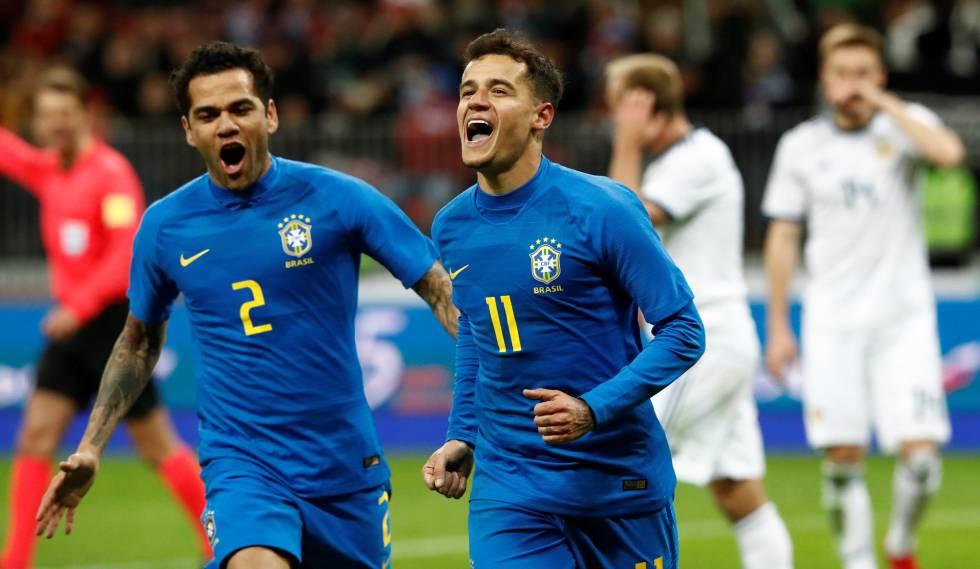 Brasil resolve no segundo tempo e vence Rússia por 3 a 0 em Moscou ... b1d71eb3988e9