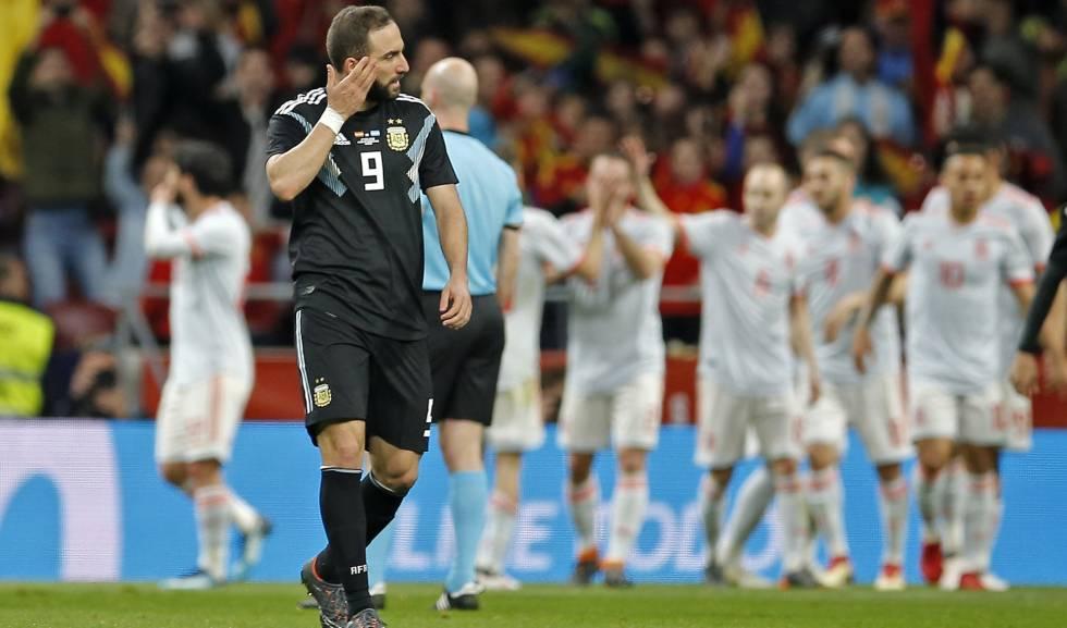 Espanha 6 x 1 Argentina Higuain