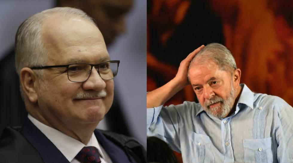Edson Fachin e ex-presidente Lula