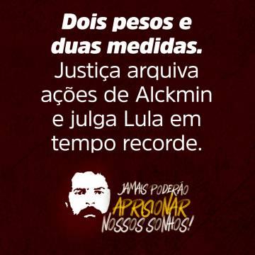 Um dos cartões que devem circular em apoio a Lula.
