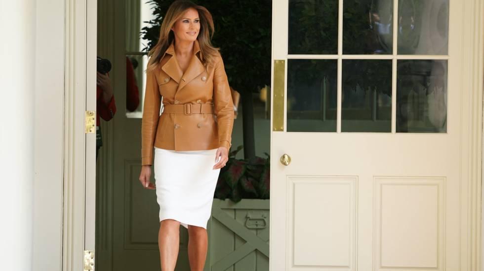 Melania Trump, na segunda-feira, dia 7 de maio, na Casa Branca