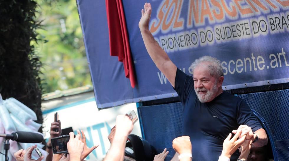 O ex-presidente Lula no dia de sua prisão, 7 de abril.