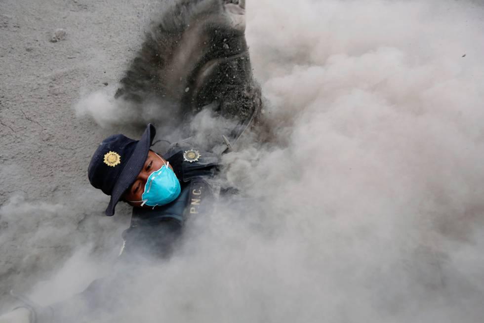 Vulcão de Fogo na Guatemala