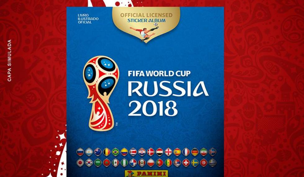 Capa do álbum da Copa do Mundo Rússia 2018.