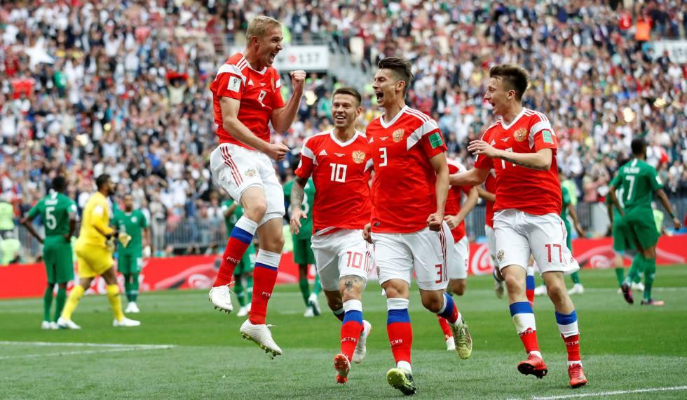 Russia goleada Arabia abertura copa do mundo