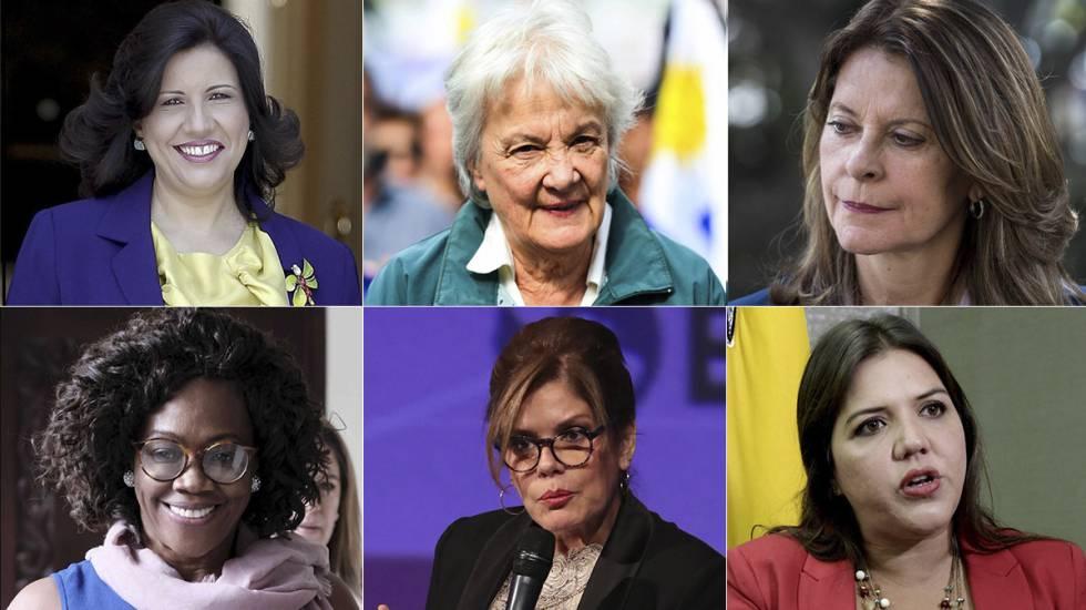 Fotografias de arquivo de 6 das 11 vice-presidentas latino-americanas. A  dominicana b1a8e69ea260