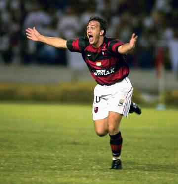 Pet comemorando um gol pelo Flamengo.