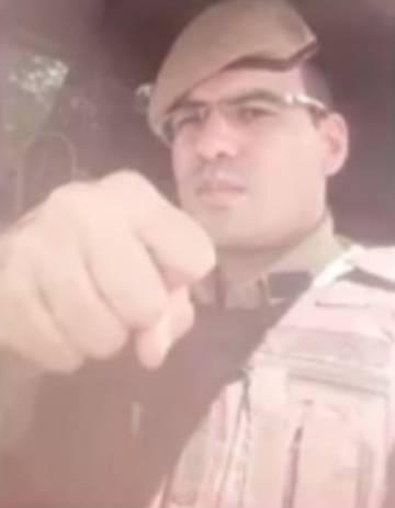 Soldado Araújo, morto após tentativa de evitar um assalto.
