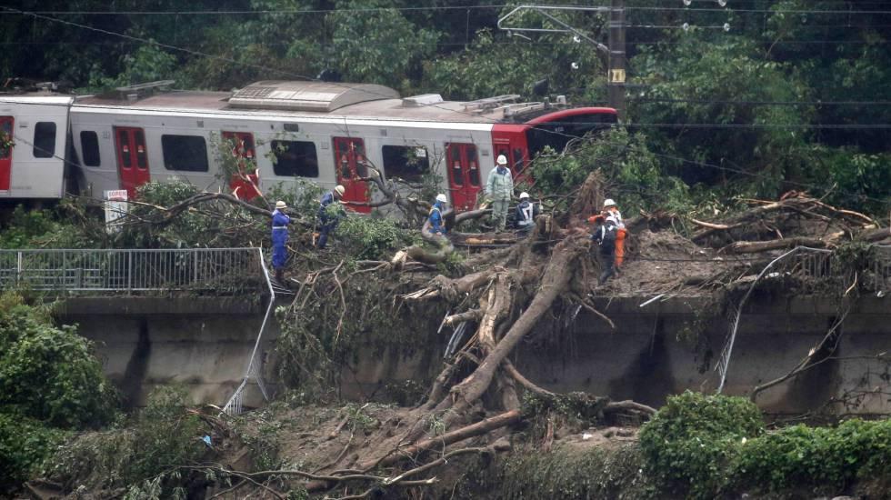 inundações japão