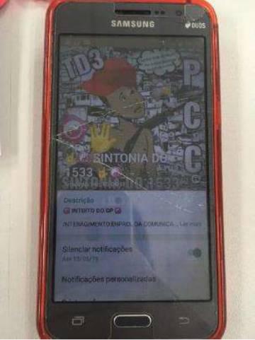 Imagem de grupo de WhatsApp do PCC em celular apreendido.