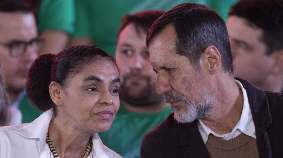 Marina Silva e Eduardo Jorge, em Brasília.