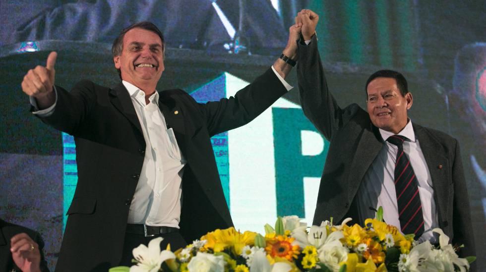 Bolsonaro e General Hamilton Mourão