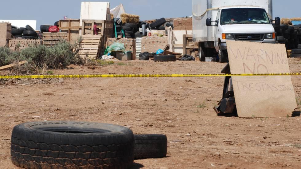 O acampamento onde os meninos foram achados