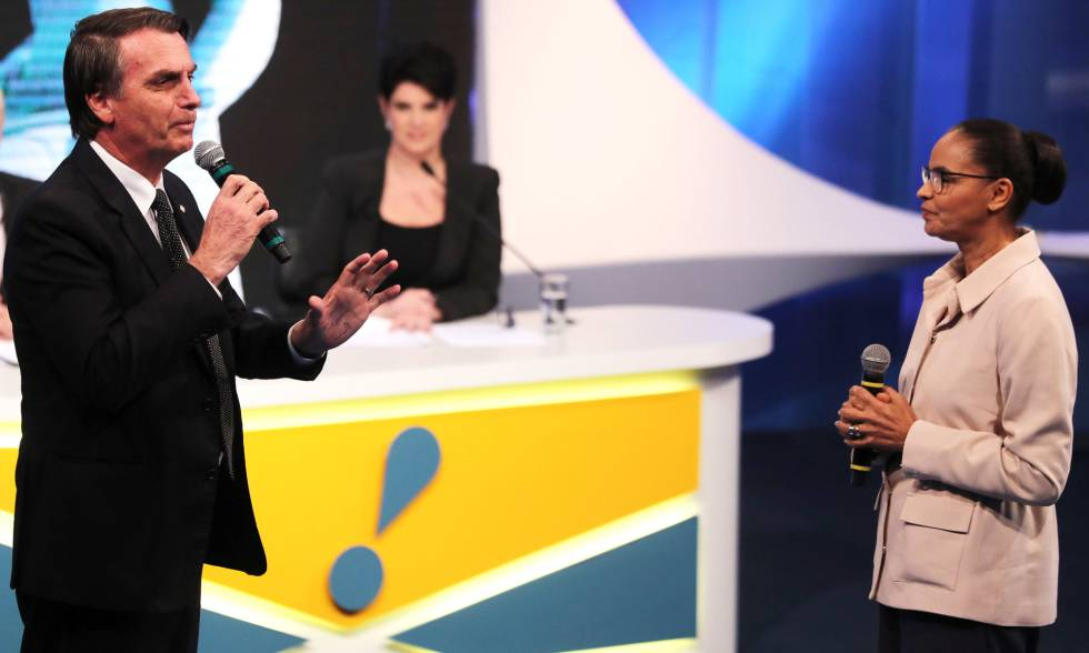 Bolsonaro faz aceno tosco às mulheres e é nocauteado por Marina