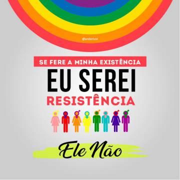 Arte em protesto contra Bolsonaro que circula pelas redes sociais