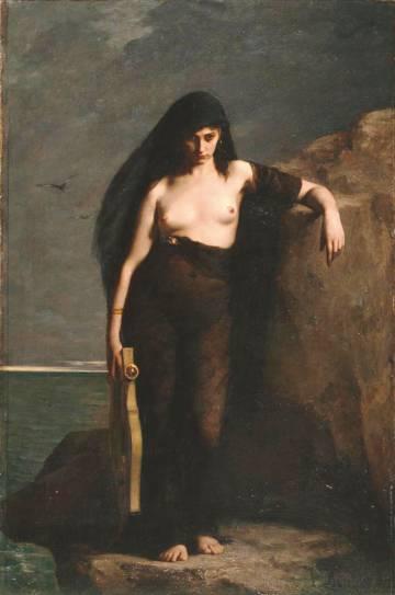 A poetisa Safo, obra de Mengin.