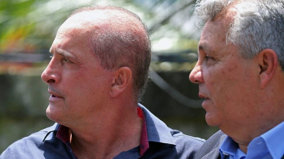 Onyx Lorenzoni e Alberto Fraga, possíveis ministros de Bolsonaro.