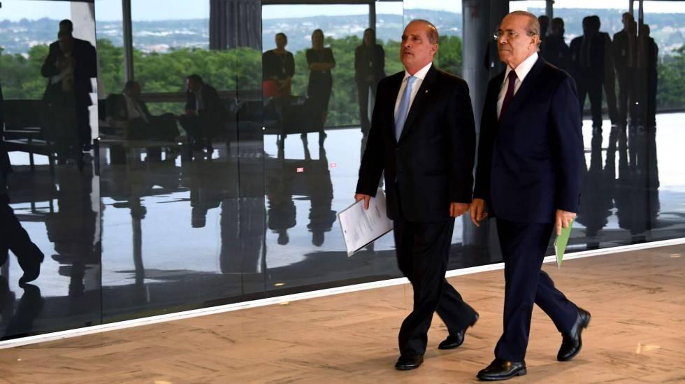 Onyx Lorenzoni e Eliseu Padilha no Palácio do Planalto.