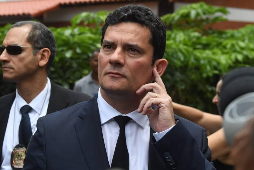 O juiz Sergio Moro, após reunião com Bolsonaro nesta quinta.