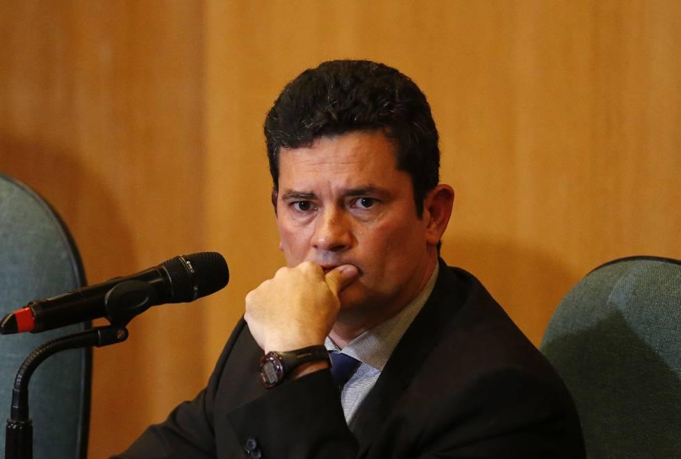 O juiz Sergio Moro durante entrevista coletiva.
