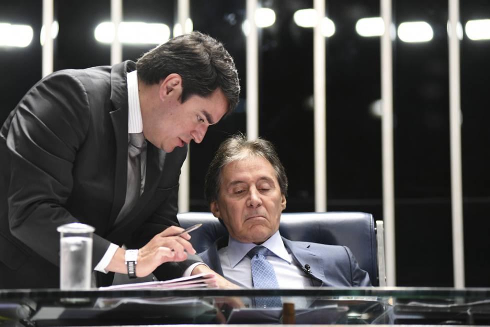 O presidente do Senado, Eunício Oliveira (MDB).