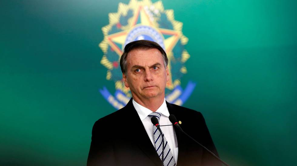 Bolsonaro, no dia 7, no Palácio do Planalto.