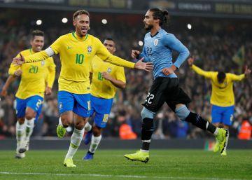 Brasil vence Uruguai com gol de pênalti de Neymar 9ccceffe90332