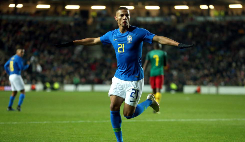 Richarlison substitui Neymar e decide amistoso para o Brasil contra Camarões 9ef634eda8c0f