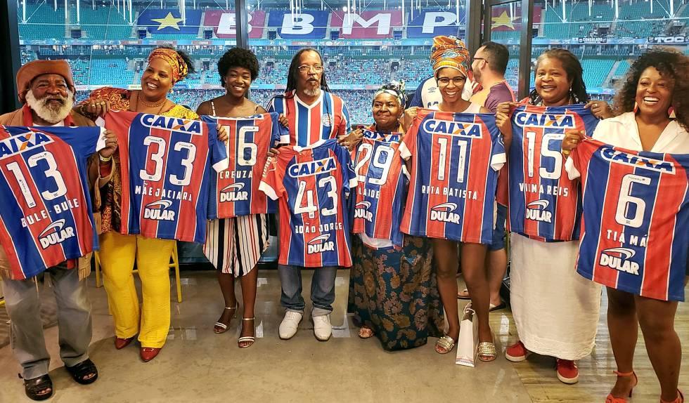 Bahia homenagem jogadores negros