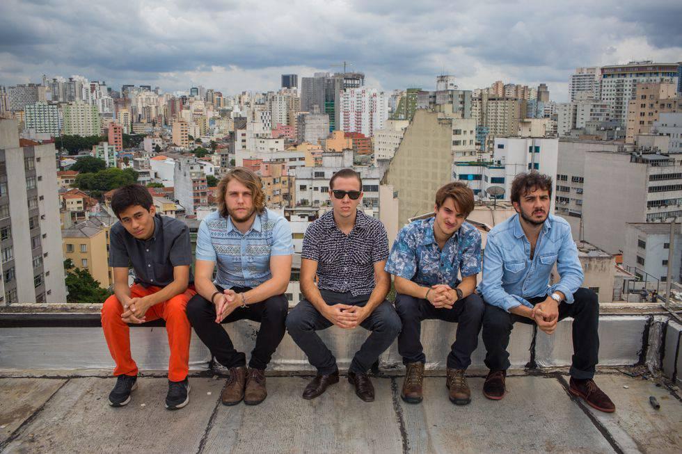 Os membros do MBL posam para o EL PAÍS em dezembro de 2014, logo após o surgimento do grupo.