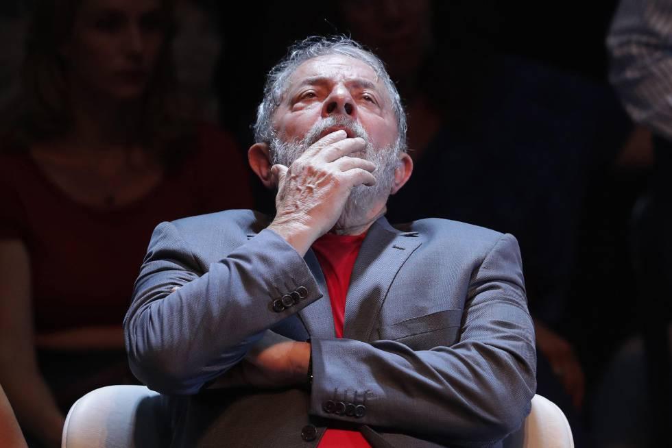 O ex-presidente Lula, em um evento no Rio às vésperas de sua prisão, em 2 de abril deste ano.