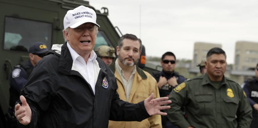 Resultado de imagem para Trump viaja à fronteira com o México