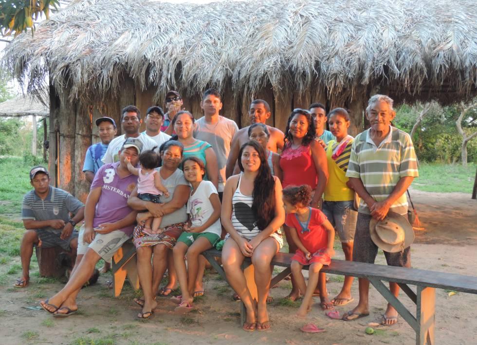Parte dos quase 200 guató que habitam a Terra Indígena